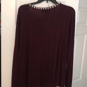Jennifer Lopez Tops - Burgundy knit top